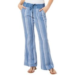 Rewash Juniors Striped Flared Linen Pants