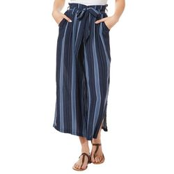 Rewash Juniors Striped Wide Leg Crop Pants