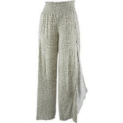 Reel Legends Womens Beach Day Exotic Animal Print Pants