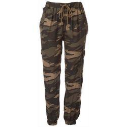 Rewash Womens Cargo Camo Jogger Pants