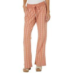 Rewash Juniors Floral Striped Linen Pants