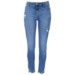 Rewash Juniors Frayed Hem Ankle Jeans