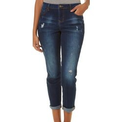 Elite Jeans Juniors Distressed Roll Cuff Ankle Jeans