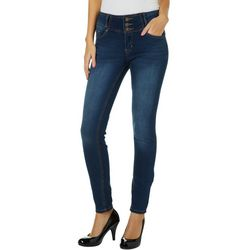 Sound Girl Juniors Retro High Rise Faded Skinny Jeans