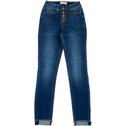 ZCO Juniors Retro High Rise Cuffed Skinny Jeans