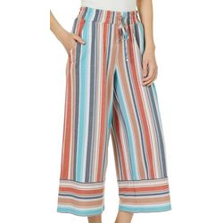Be Bop Juniors Mixed Stripe Wide Leg Crop Pants
