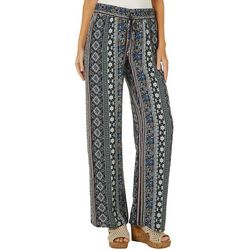 Be Bop Juniors Boho Striped Wide Leg Soft Pants
