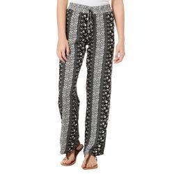 Be Bop Juniors Floral Striped Wide Leg Soft Pants