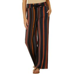 Juniors Vertical Stripe Soft Bottom Pants