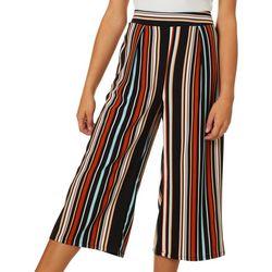 Be Bop Juniors Vertical Stripe Wide Leg Crop Pants
