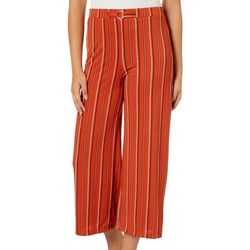 Be Bop Juniors Pin Stripe Wide Leg Crop Pants