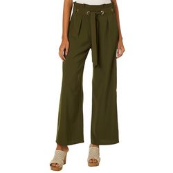 Be Bop Juniors Solid Belted Palazzo Pants