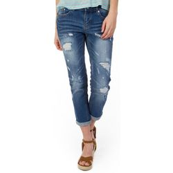 Unionbay Juniors Margot Destructed Denim Capris