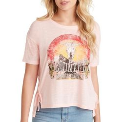 Jessica Simpson Womens Country Born And Bred Graphic Top