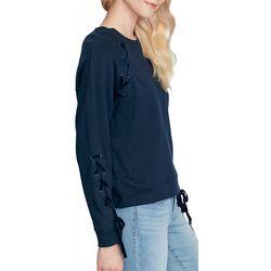 Jessica Simpson Womens Kiana Lace-Up Sweatshirt