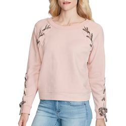 Jessica Simpson Womens Kiana Lace-Up Sweatshirt