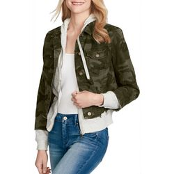 Jessica Simpson Womens Peony Camo Knit Jacket