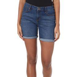 Jessica Simpson Womens Mid Rise Roll Cuff Bermuda Shorts