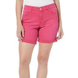 Jessica Simpson Womens Maxwell Roll Cuff Bermuda Shorts