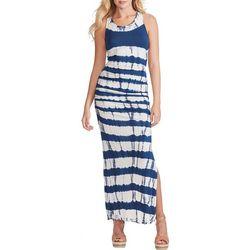 Jessica Simpson Womens Tie Dye Striped Sleeveless Dress