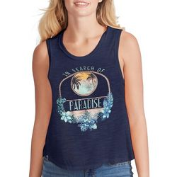 Jessica Simpson Womens In Search Of Paradise Sleeveless Top