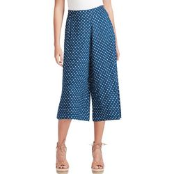 Jessica Simpson Womens Polka Dot Palazzo Cropped Pants