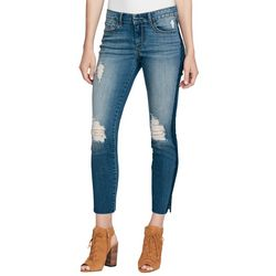 Jessica Simpson Womens Destructed Side Striped Skinny Jeans