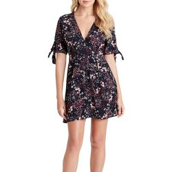 Jessica Simpson Womens Floral Tie Sleeve Romper