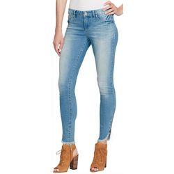 Jessica Simpson Womens Kiss Me Zipper Hem Skinny Jeans