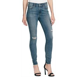 Jessica Simpson Womens Embellished Destructed Skinny Jeans