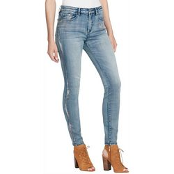 Jessica Simpson Womens High Rise Foil Stripe Skinny Jeans