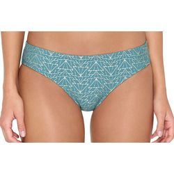 Hot Water Juniors Cheeky Geometric Bikini Swim Bottoms