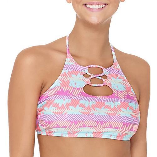 7b1b0a206f54a Hot Water Juniors Miami Beats Halter Bikini Swim Top | Bealls Florida