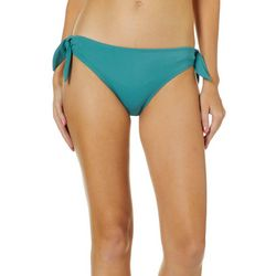 Hot Water Juniors Ribbed Solid Tie Side Bikini Swim Bottoms