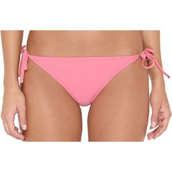 Hot Water Juniors Solid Side Tie String Swim Bottoms