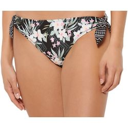 Hot Water Juniors Boho Blossom Tie Side Swim Bottoms