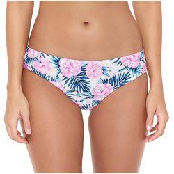 Hot Water Juniors Dune Flowers Hipster Bikini Swim Bottoms