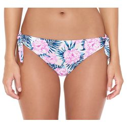 Hot Water Juniors Dune Flowers Tie Side Bikini Swim Bottoms