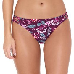 Hot Water Juniors Garden Blooms Hipster Swim Bottoms
