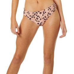 Hot Water Juniors Leopard Wide Hipster Swim Bottoms