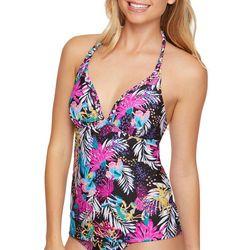 Malibu Dream Girls Juniors Floral Phase Tankini Top