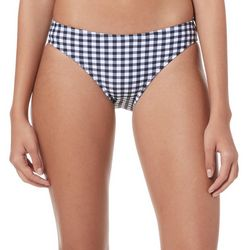 Malibu Dream Girls Juniors Picnic Plaid Hipster Swim Bottoms