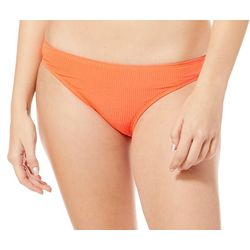 Malibu Dream Girls Juniors Shimmer Ribbed Swim Bottoms