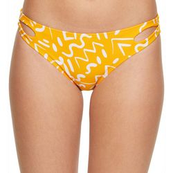 Malibu Dream Girls Juniors Geo Vibes Hipster Swim Bottoms