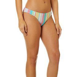 Reel Legends Juniors Carnival Stripe Cheeky Swim Bottoms