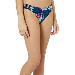 Island Soul Juniors Tropical Floral Hipster Swim Bottoms