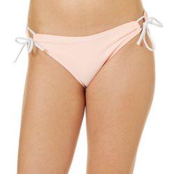 Island Soul Juniors Pinstripe Tie Side Swim Bottoms