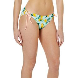 Island Soul Juniors Lemon Print Tie Side Swim Bottoms
