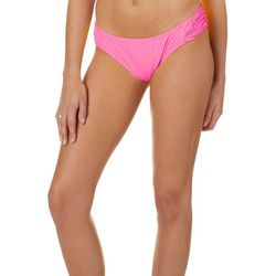 Island Soul Juniors Solid Shirred Tab Swim Bottoms