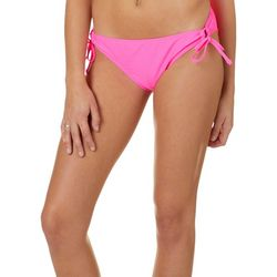 Island Soul Juniors Sweet Pea Solid Tie Side Swim Bottoms